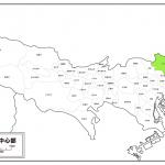 東京の足立区を示した地図